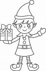 Coloring Christmas Elf Pages Tree sketch template