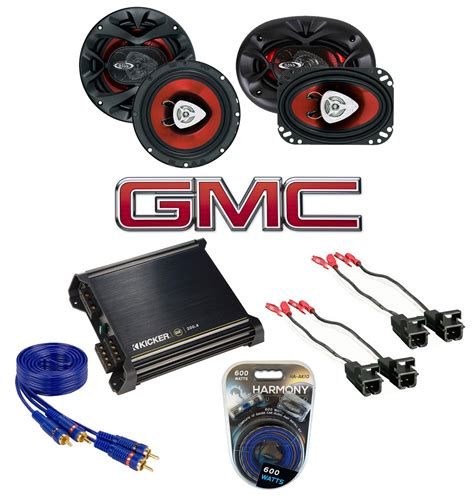 gmc 07 12 regular cab truck factory speaker replacement ch6500 ch4630 package with