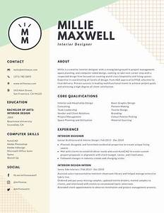 resume interior designer resume ideas With interior designer cv