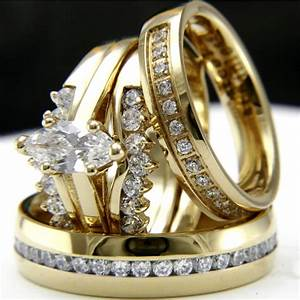 Gold tone 09ct cz solitaire engagement woman39s wedding for Ring mens wedding