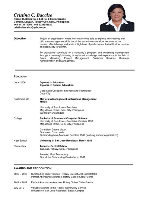 c bacalso updated resume may 2016