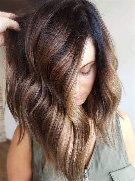 Dye Ideas For Brown Hair by Top 20 Balayage Hairstyles For Brown Hair Color