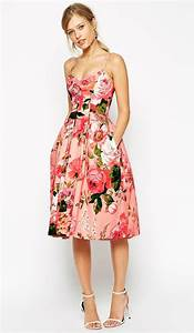 What to wear to a may wedding pink floral dress floral for Floral dresses for weddings