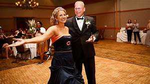 bride surprises father by wearing chicago bears themed With chicago bears wedding dress