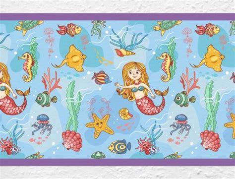 Kinderzimmer Mädchen Bordüre by Kinderzimmer Bord 252 Re Meerjungfrau In Der Unterwasserwelt