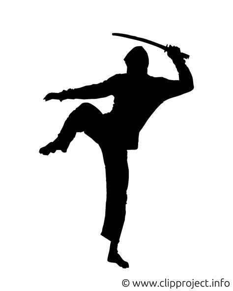 silhouette ninja clip art