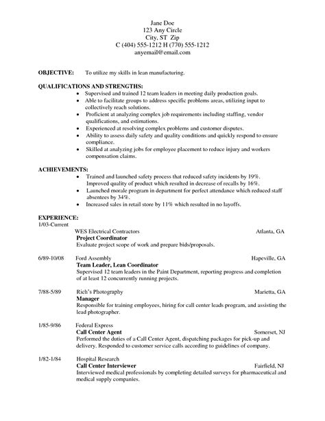 exles of resumes that work high school student resume