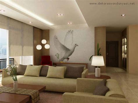 A Comfortable Modern Home With Colorful Accents : En Güzel Salon Asma Tavan Modelleri › Dekor Sarayi