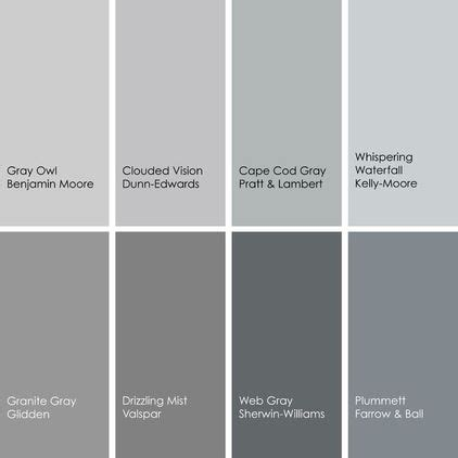 gray paint picks for dining rooms clockwise from top left
