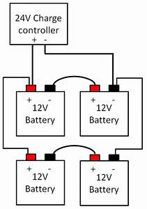 12v to 24v series parallel wiring diagram With 24 volt solar panel wiring series