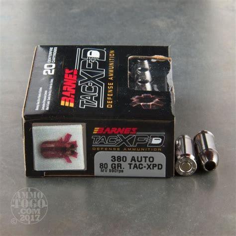 barnes tac xpd 380 380 auto acp ammunition for barnes 80 grain