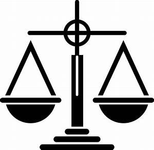 Clipart - Scales Of Justice Icon