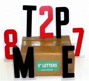 sign letters 6 inch flex set 4 changeable signs 250 ct ebay With 6 inch sign letters
