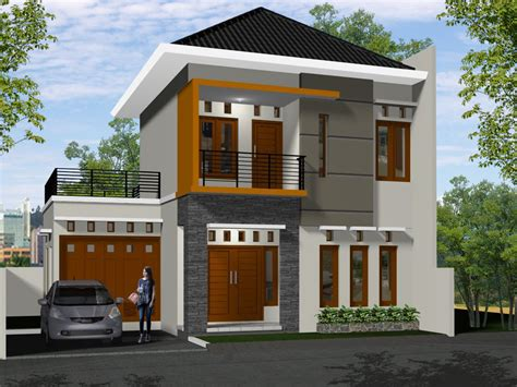 Gambar Rumah Minimalis 2 Lantai Elegan  Desain Rumah