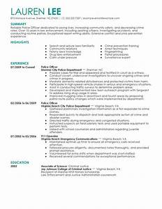 professional police officer templates to showcase your With law enforcement resume