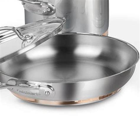 cuisinart cuisinart  piece set stainless steel copper band cookware set membership rewards