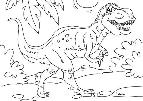 Kleurplaat Grote Dinosaurus by Kleurplaat Dinosaurus Tyrannosaurus Rex Afb 27625