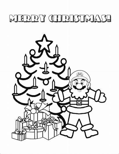 Mario Coloring Pages Super Christmas Maker Printable
