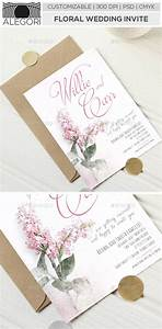 wedding vector floral black and white clean tinkytyler With floral wedding invitations graphicriver