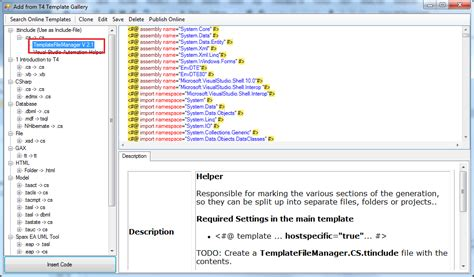 t4 template how to generate output files from a single t4 template