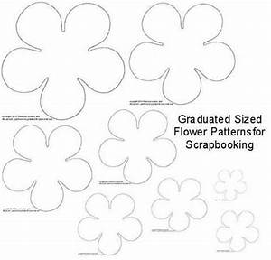 141 best diy flower templates images on pinterest fabric With paper cut out templates flowers