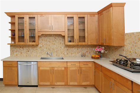 look4design cuisine honey shaker maple cabinets ready to assemble kitchen