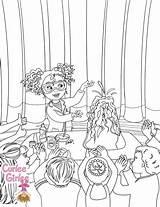 Coloring Girlee Curlee Curly sketch template