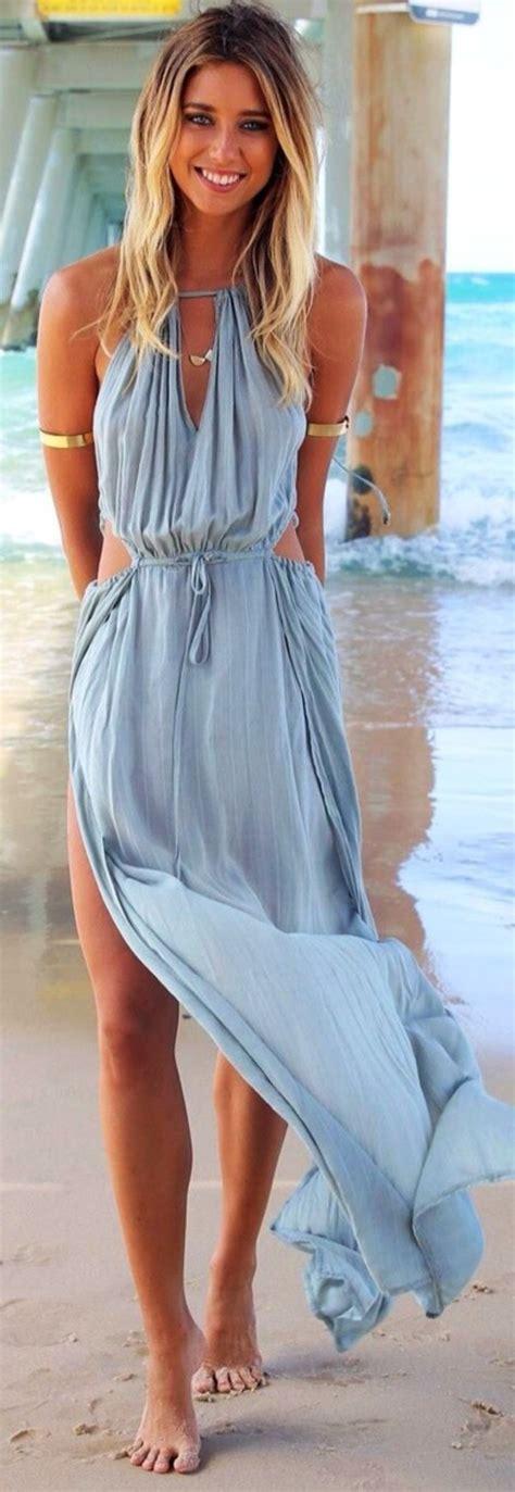2014 New Sexy Summer Women Bandage V-Neck Beach Boho Maxi Sundress Halter Long Dress
