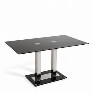 Tischplatte 140 X 80 : actona esstisch elva 140 x 80 cm schwarz glas online kaufen bei woonio ~ Bigdaddyawards.com Haus und Dekorationen