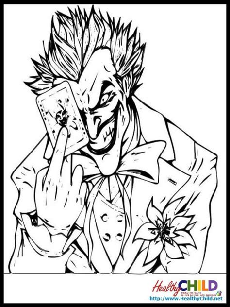 Coloring Joker by Joker Coloring Pages Coloring Home