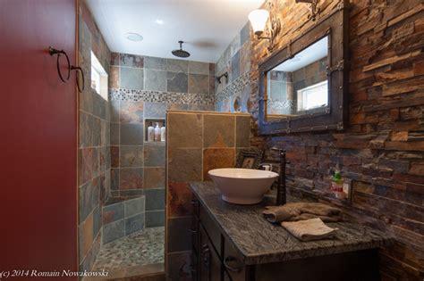 Modern Rustic Bathroom Tile by Bjoring Residential Renovation Rustic Bathroom Dc