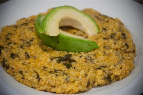 mais cuisine cornmeal and spinach mais moulin ak zepina