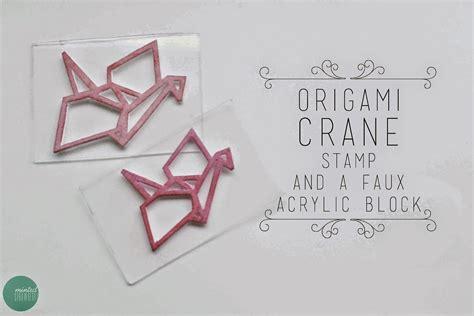 diy crane stamp  acrylic block minted strawberry