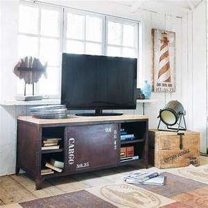 Meuble Tv Maison Du Monde : meuble tv bibliotheque idees accueil design et mobilier ~ Teatrodelosmanantiales.com Idées de Décoration