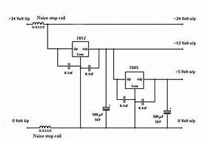 Battery Eliminator Circuit With L7812cv And 7805 Circuit Diagram World