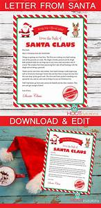 letter from santa christmas letter santa letter gift With letter from santa with gift