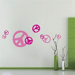 peace sign wall stickers peenmediacom With good look peace sign wall decals