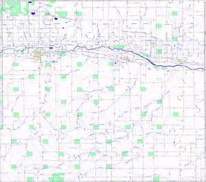Prowers County Colorado Road Map