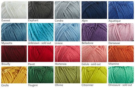 yarn color chart my valley blanket colors