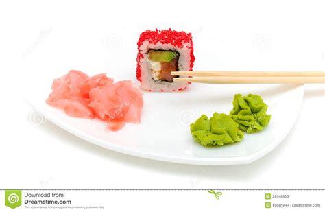 gingembre cuisine cuisine japonaise roulis wasabi et gingembre mariné
