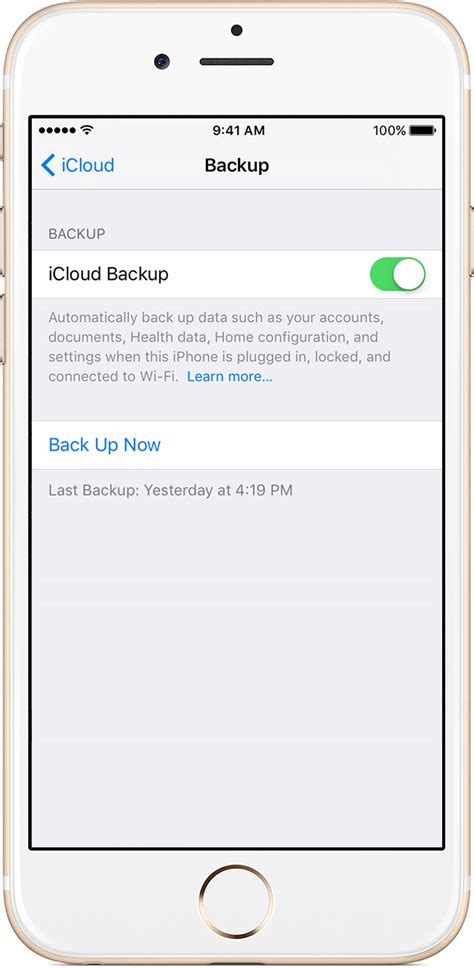 how to backup phone to icloud how to back up your iphone and ipod touch apple