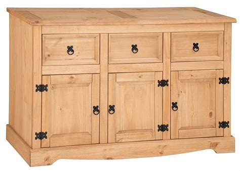 Corona Mexican Pine Sideboard by Mercers Furniture 174 Corona Mexican Pine Large 3 Door 3