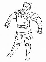 Mulan Coloring Uniform Soldier Print Pages Printable Getcolorings sketch template