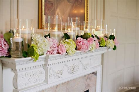 Candles Mantle Engagement Party Decor The Princess