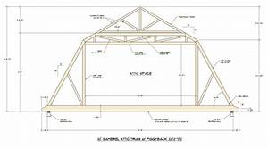 Barn roof truss gambrel roof timber truss for 40 foot roof truss