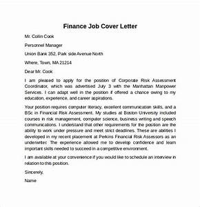 cover letter example for job 10 download free documents With sample cover letters for finance jobs