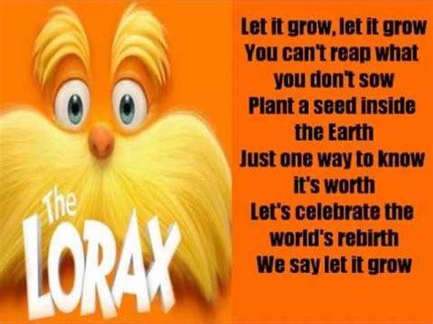 lorax   grow lyrics dr seuss  lorax
