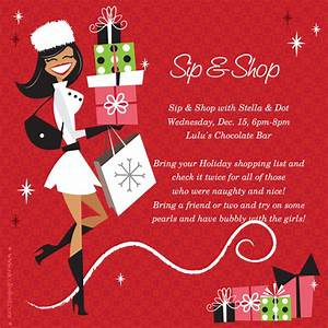 Sip shop stella dot exclusive holiday trunk show for Stella and dot invitation templates