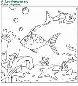Coloring Reading Fish Pages Grade Silver Wordzila Books sketch template
