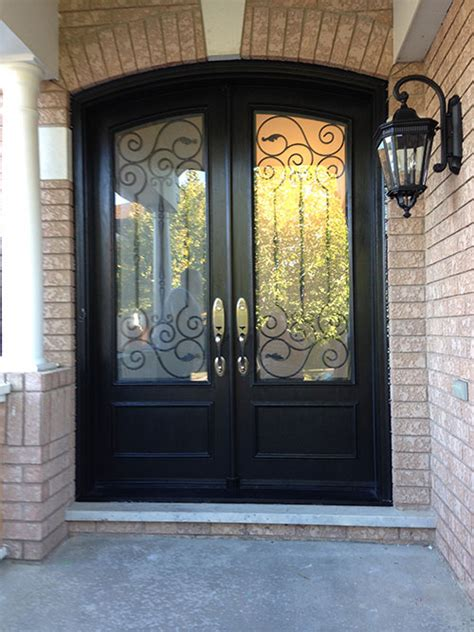 arched fiberglass doors front entry doors arch design fiberglass doors installation  iron